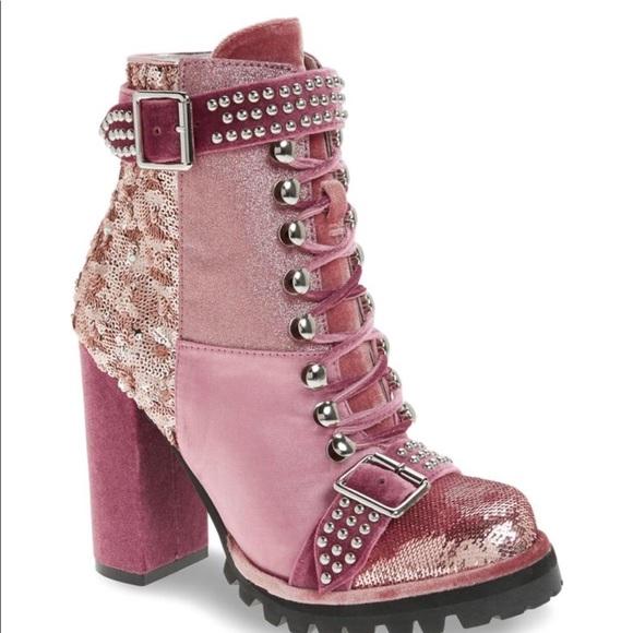 026a51e297de NWOB Jeffrey Campbell Women Lilith Pink Boots 8.5M